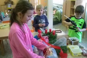 Příprava adventu ve školní družině