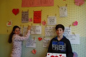 Akce Školního parlamentu - Valentýnská přání